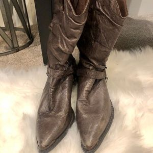 "NEW Durango ""slouch"" Cowboy boots ~ brown/bronze"